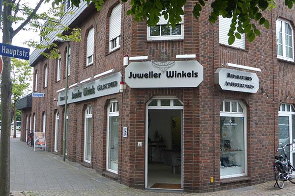 Juwelier Winkels Standort Meerbusch Außenaufnahme